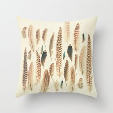 Found Feathers Throw Pillow
