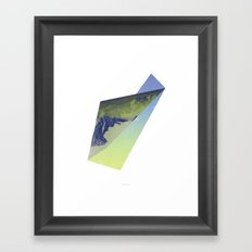 Triangle Mountains Framed Art Print