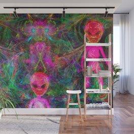 Kneel Before The Bubblegum Alien King (psychedelic) Wall Mural