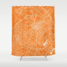 Lexington map orange Shower Curtain