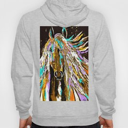 Horse Abstract Oil Painting Hoody