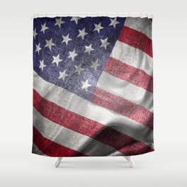 4th of July Fabric of America Shower Curtain