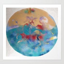 Oxherding 4  / Painted by Terrance Keenan Art Print