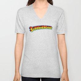 Superheroine Unisex V-Neck