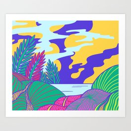 Fantasy Valley Art Print