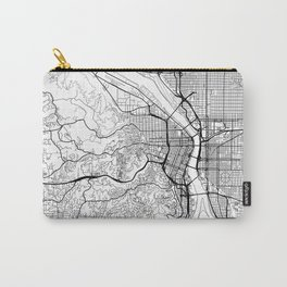 Portland Map White Carry-All Pouch