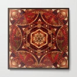 Meditation in Copper Metal Print