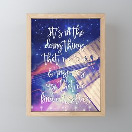 Violin Dream • Find Self Quote • Do What You Love Framed Mini Art Print