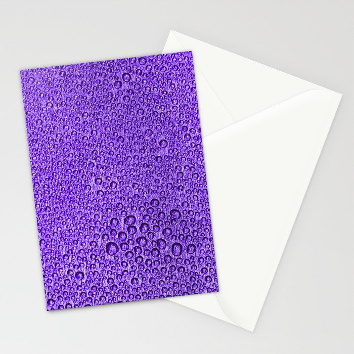 Water Condensation 05 Violet Stationery Cards