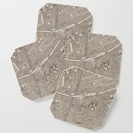 Vintage Map of Dublin Ireland (1764) Coaster