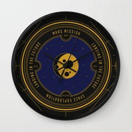 Mars Mission Wall Clock