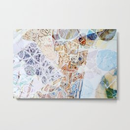 Mosaic of Barcelona IX Metal Print