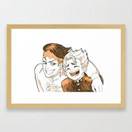 strange friends Framed Art Print
