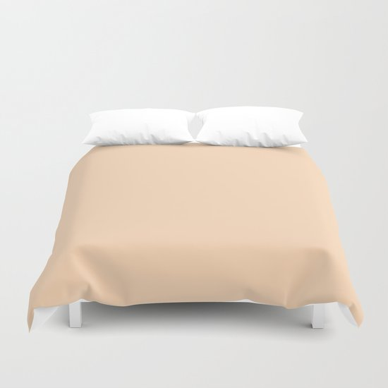 color peach puff Duvet Cover