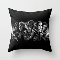 Freddy Krueger Jason Voorhees Michael Myers leatherface Darth Vader Blackest of the Black Throw Pillow