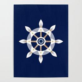 Nautical Rudder Poster