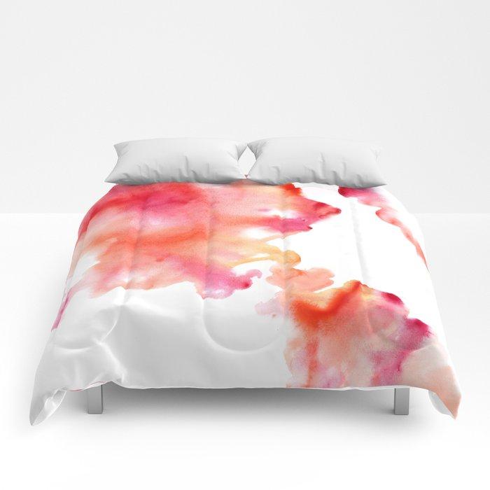 Watercolor Drops Comforters