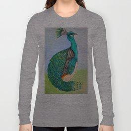 Squatty Peacock Long Sleeve T-shirt