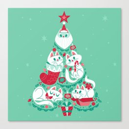 A Very Purry Christmas Canvas Print