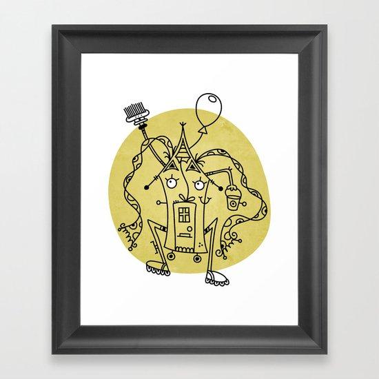 Moving house Framed Art Print