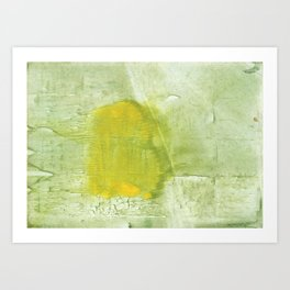 Green abstract aquarelle painting Art Print
