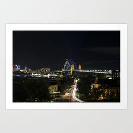 Vivid Sydney 2017_13 - Harbour Bridge Art Print