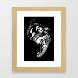 Monochromanimal (black) Framed Art Print