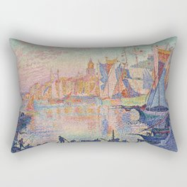 Paul Signac - The Port Of Saint Tropez Rectangular Pillow