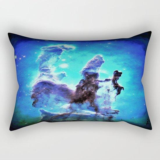 Blue Pillars of Creation nEBULA  Rectangular Pillow
