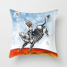 Space Cowboy Throw Pillow