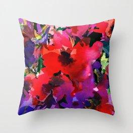 Plenty Poppies Throw Pillow