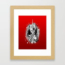 Comes from the Heart (Red) Framed Art Print
