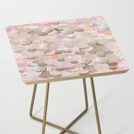 MERMAID SHELLS - CORAL ROSEGOLD Side Table