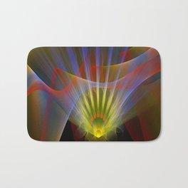 Inner light, spiritual fractal abstract Bath Mat