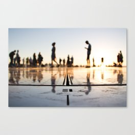 Greeting to the sun, Zadar Canvas Print