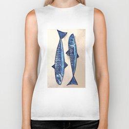 Blue fishes- Poissons bleus Biker Tank