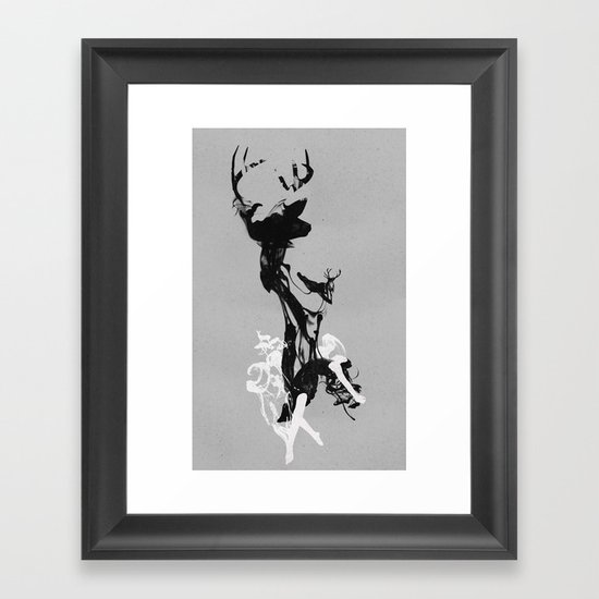 Last time I was a Deer Framed Art Print