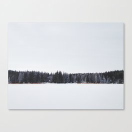 Across a Winter Lake Canvas Print