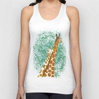 giraffes Tank Tops featuring giraffes by Isabel Sobregrau