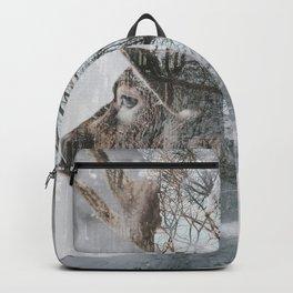 Reindeer and New York City Street Winter Backpack