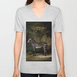 George Stubbs - Zebra Unisex V-Neck