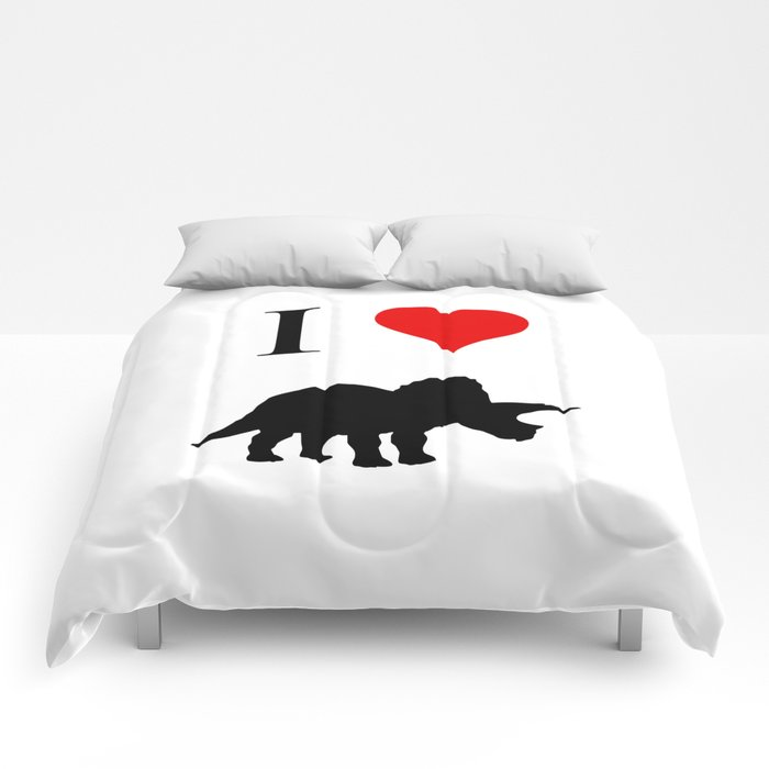 I Love Dinosaurs - Triceratops Comforters