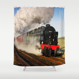 46115 Scots Guardsman Steaming Through Hellifield Shower Curtain