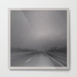 Winter Roads in the Prairies  Metal Print