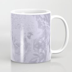 Ghostly alpaca and Lilac-gray mandala Mug