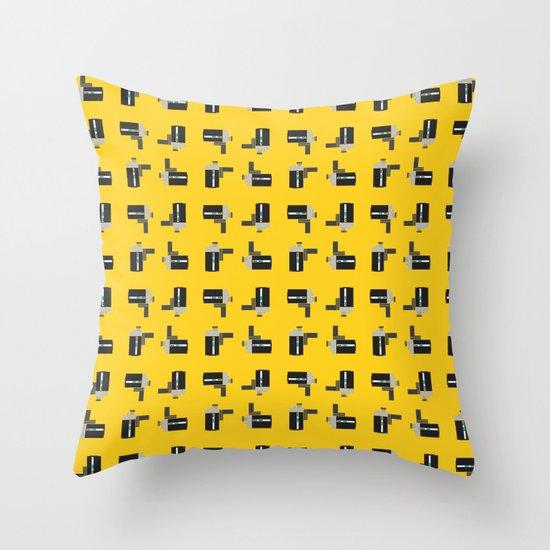 camera 04 pattern Throw Pillow