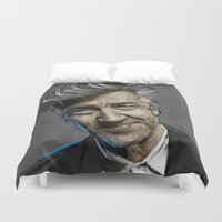 lynch Duvet Covers featuring DAVID LYNCH by AMBIDEXTROUS™