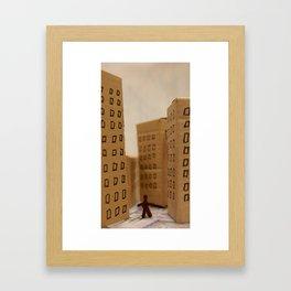 Urban life neurosis Framed Art Print