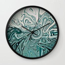 Green Lunacy Wall Clock