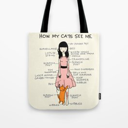 How My Cats See Mee Tote Bag